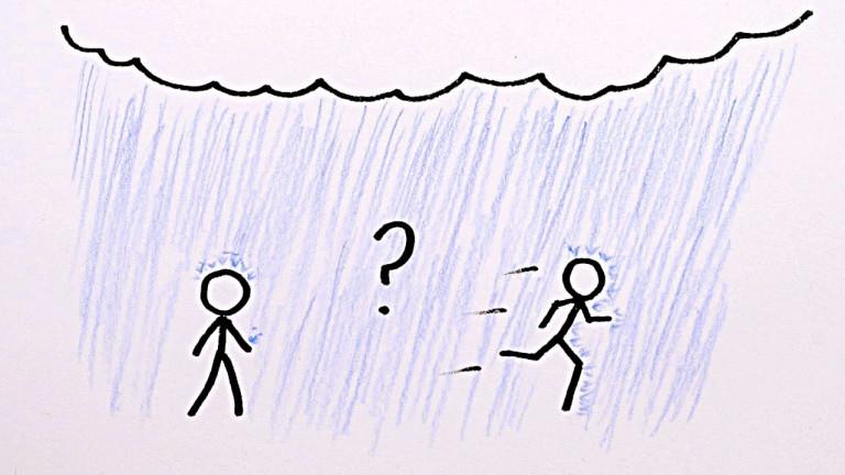 Кое е по-добре в дъжда: да бягаме или да вървим?